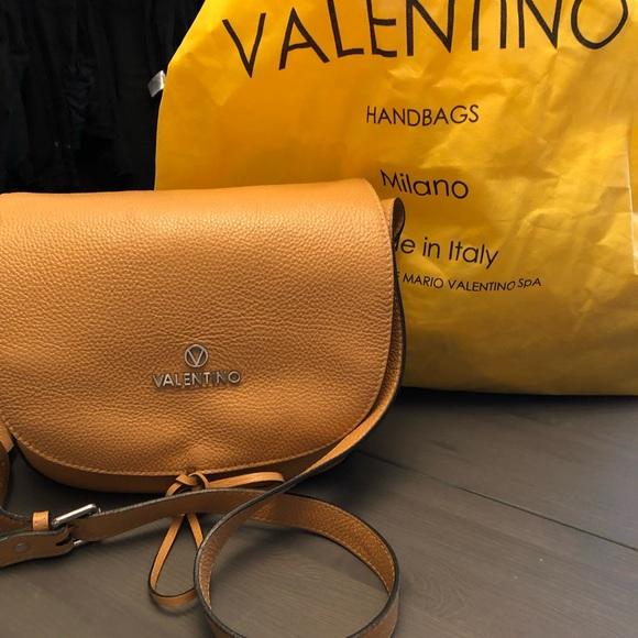 Valentino Handbags - Valentino dark almond pebbled crossbody
